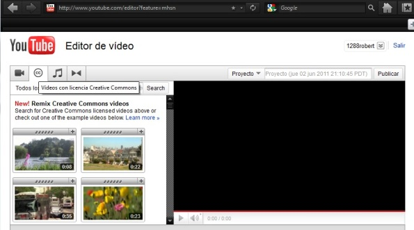 youtube y creative commons